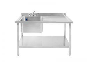 SBRD1200 Single Bowl Sink, Right Drainer